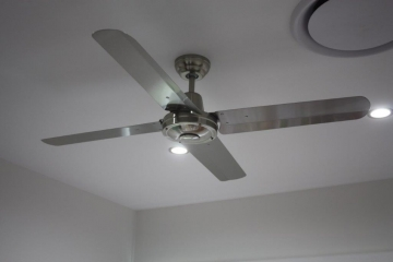 Stainless steel ceiling fan installation | Electrical Contractors Brisbane