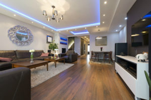 LED Lighting in a living room | Unified Electrical and Communications