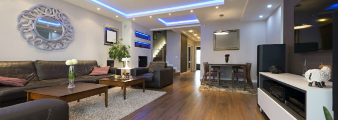 LED Lighting in a living room | LED Downlights vs Halogen | Unified Electrical and Communications