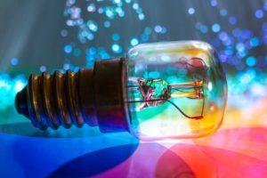 light bulb refracting colour | electrician wynnum | Brisbane electrician