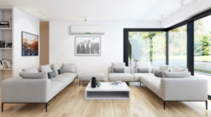 living room with air condioning | benefits of reverse cycle air conditioning | Unified Electrical