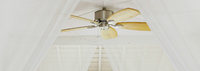 ceiling fan with curtains | how effective are ceiling fans? | Unified Electrical