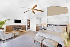 bedroom ceiling fan installtion